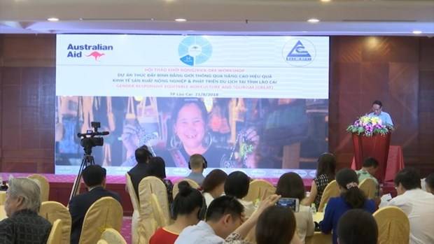 Australia aids gender equality project via agriculture, tourism in Lao Cai hinh anh 1
