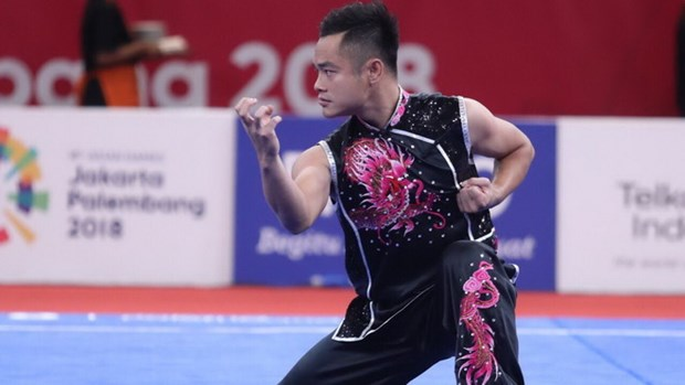 ASIAD 2018: wushu brings Vietnam one silver, one bronze on Aug.21 hinh anh 1