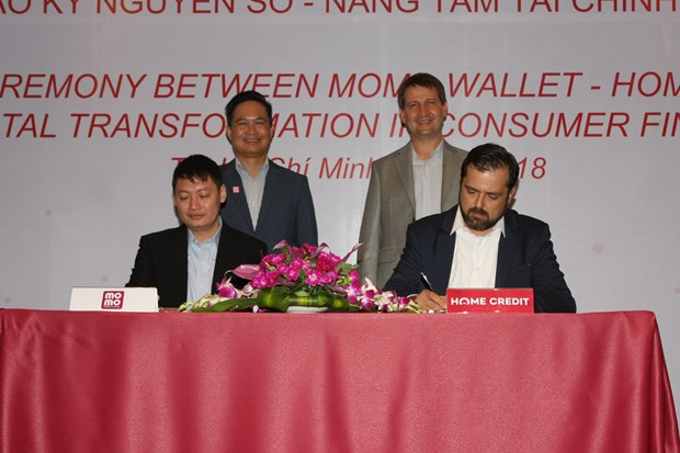 Momo, Home Credit partner to promote cashless consumer finance hinh anh 1