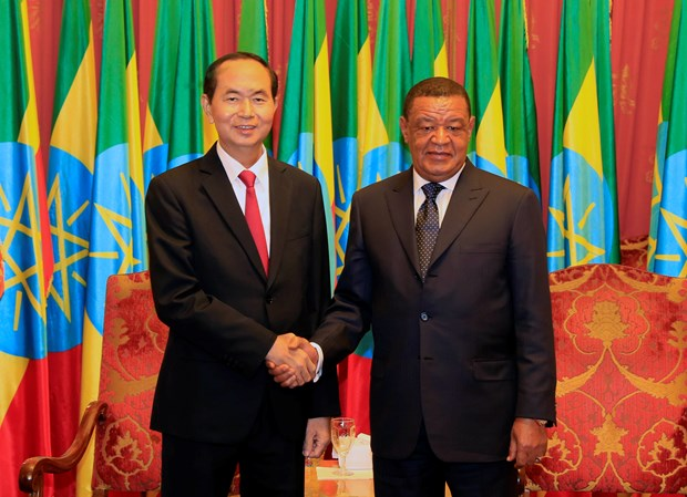 Presidents of Vietnam, Ethiopia hold talks hinh anh 1