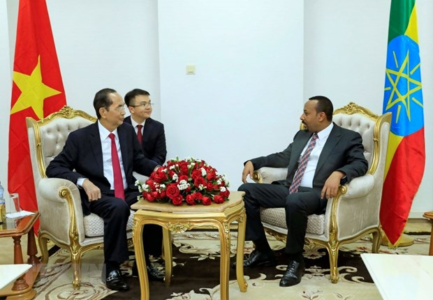President meets with Ethiopian Prime Minister hinh anh 1