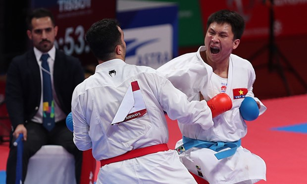 ASIAD 2018: Vietnam grabs a silver in Karate hinh anh 1