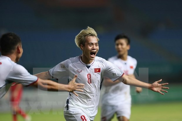 Vietnam beats Syria 1-0, entering ASIAD semifinals for first time hinh anh 1