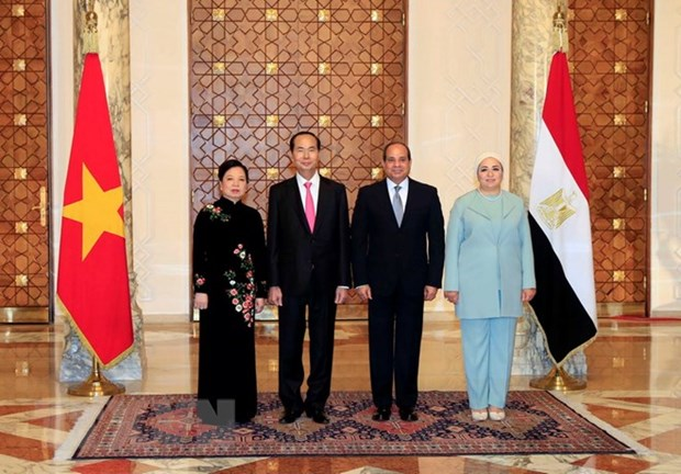 President Tran Dai Quang holds talks with Egyptian counterpart hinh anh 1