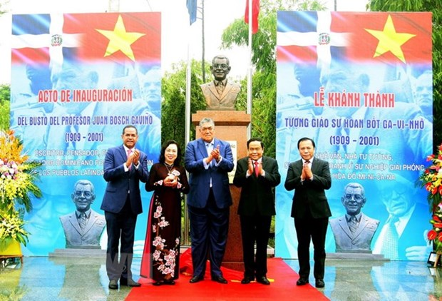 Bust of first Dominican President inaugurated in Hanoi hinh anh 1