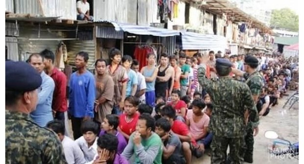 Thailand arrests over 1,100 illegal foreign workers hinh anh 1