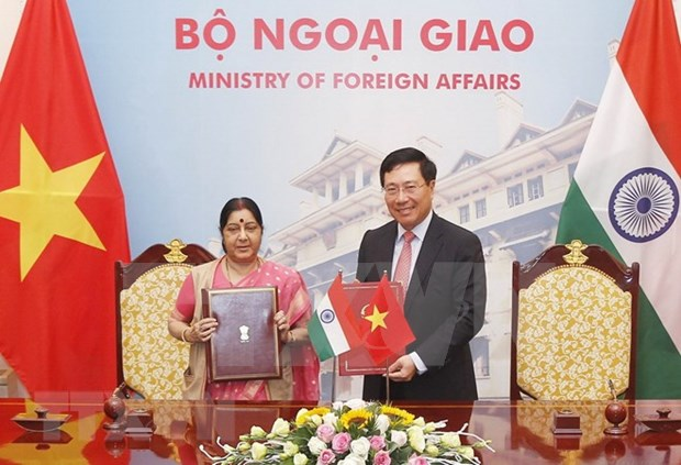 Vietnam, India hold 16th Joint Committee's meeting in Hanoi hinh anh 1