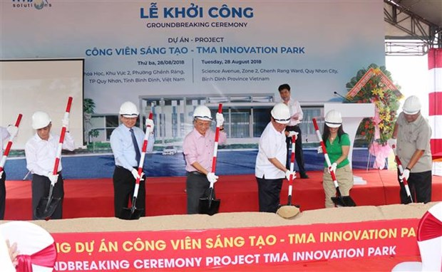 Construction of Vietnam's first innovation park starts in Binh Dinh hinh anh 1