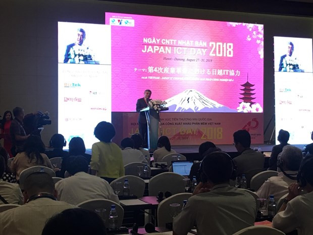 Japan ICT Day 2018 opens in Hanoi to promote VN-Japan cooperation hinh anh 1