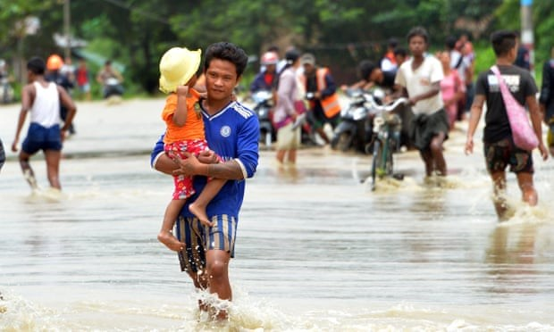 Over 50,000 Myanmar people evacuate due to dam breach hinh anh 1
