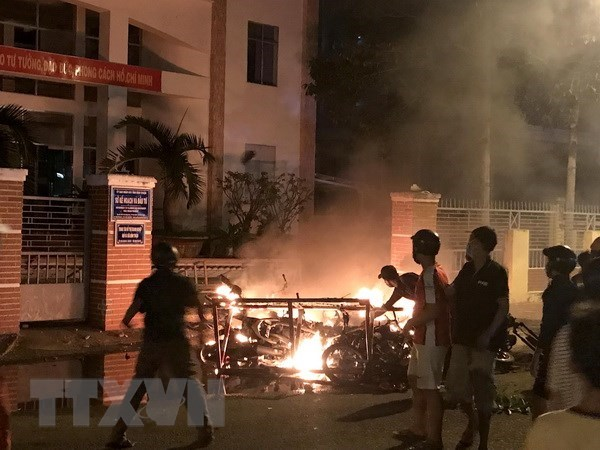 Binh Thuan: legal proceedings started against 17 more riot suspects hinh anh 1