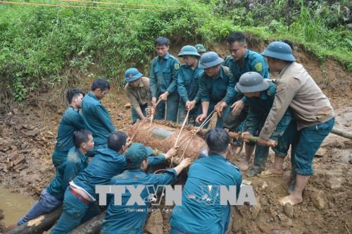 350kg bomb destroyed successfully in Yen Bai hinh anh 1