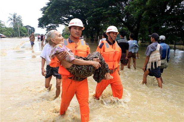 Myanmar works to overcome consequences of dam break hinh anh 1