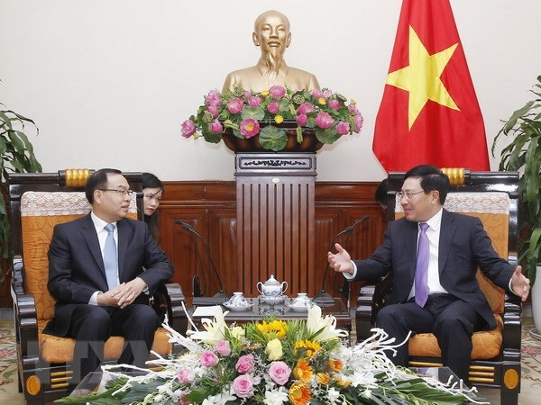 Deputy PM hosts mayor of Chinese province hinh anh 1