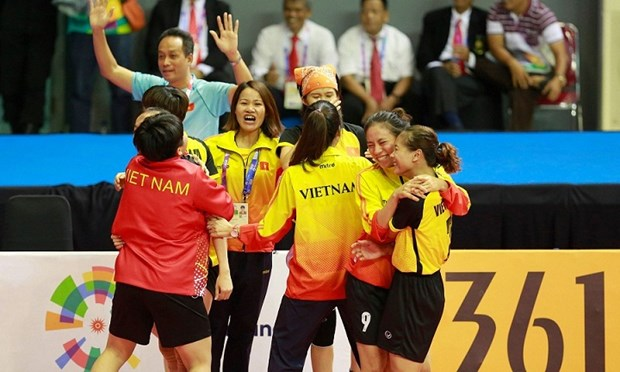 Women's sepak takraw team succeeds in changing medal colour hinh anh 1