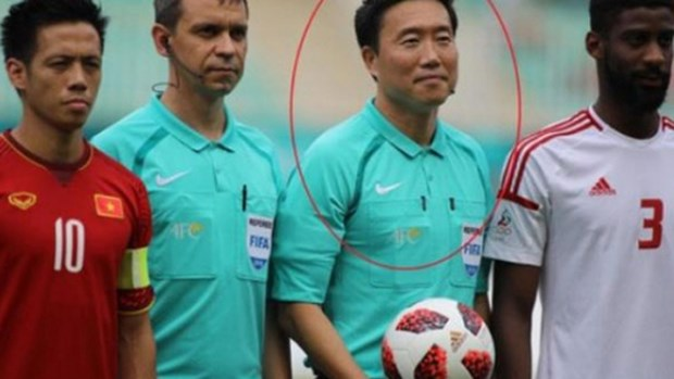 ASIAD 2018: Korean people want referee of Vietnam-UAE match banned hinh anh 1