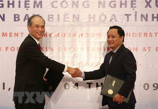 Dioxin treatment technology to be piloted at Bien Hoa airport hinh anh 1
