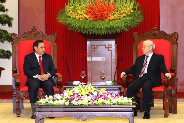 Laos vows to work with Vietnam to enhance bilateral ties hinh anh 1