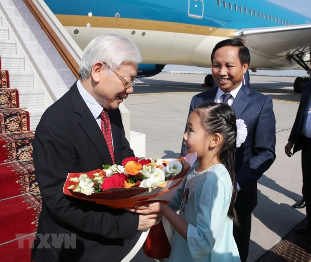 Party leader begins Russia visit hinh anh 1
