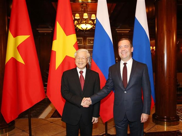 CPV chief meets with Russian Prime Minister hinh anh 1