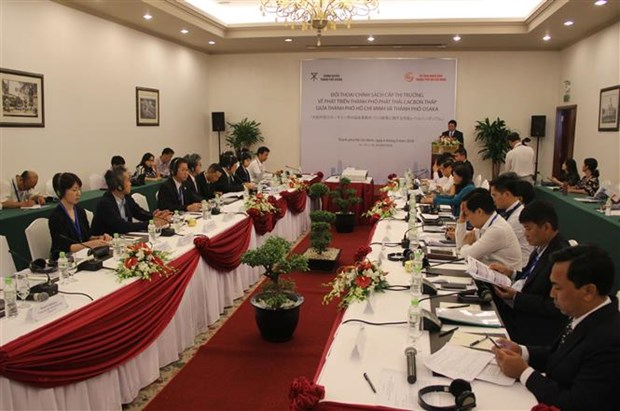 Mayor-level dialogue on low carbon emission policy held hinh anh 1