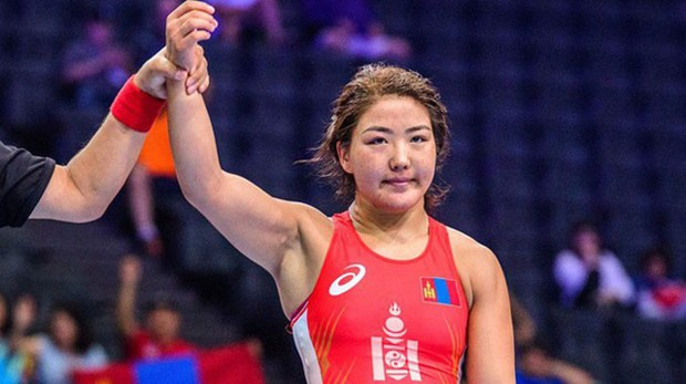 ASIAD 2018: Mongolia loses wrestling gold, promoting Vietnam's ranking hinh anh 1