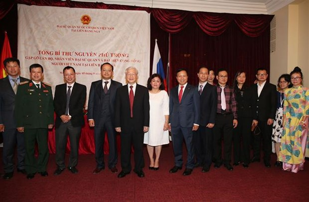 Party leader encourages OV to contribute to Vietnam-Russia ties hinh anh 1