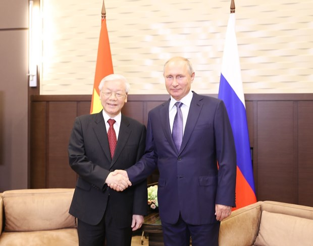 Russia an important, reliable partner of Vietnam: Party leader hinh anh 1