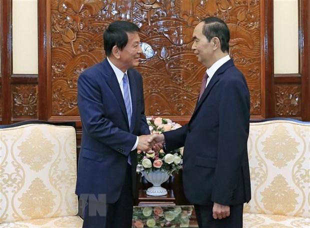 President welcomes VN-Japan, Japan-VN Special Ambassador hinh anh 1