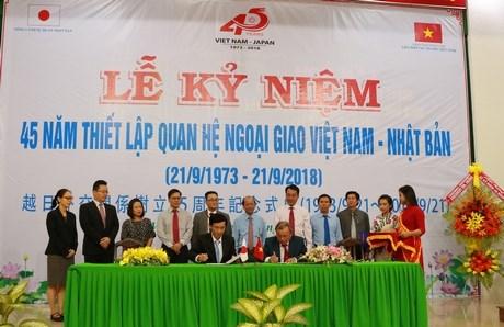 Vietnam-Japan diplomatic ties marked in Vinh Long hinh anh 1