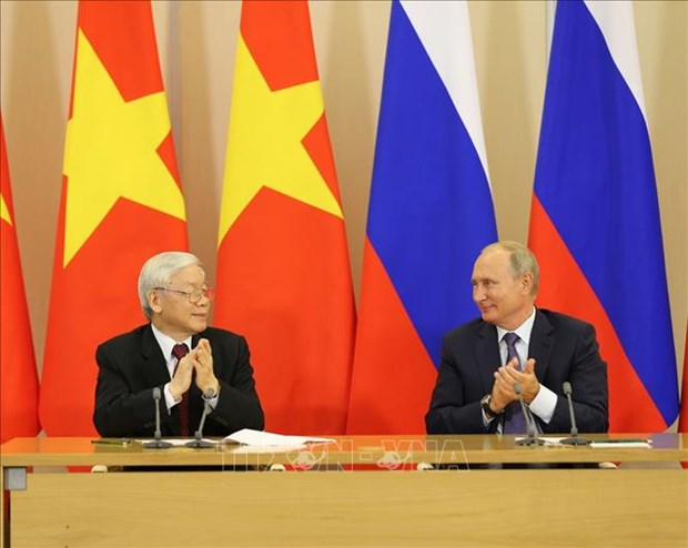 Party leader affirms continuously consolidated VN-Russia relationship hinh anh 1
