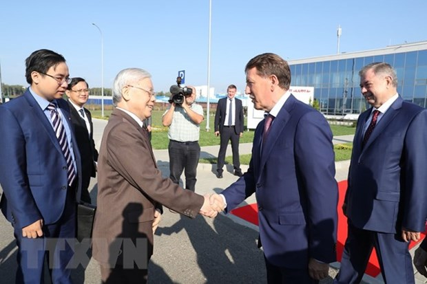 Party leader stresses Vietnam-Russia economic ties in Kaluga Oblast tour hinh anh 1