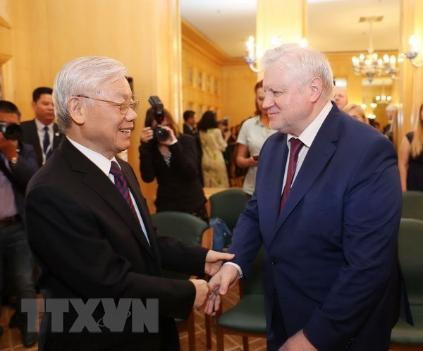 Party leader meets with Chairman of A Just Russia party hinh anh 1