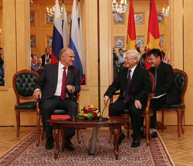 Russia a top priority in Vietnam's foreign policy: Party leader hinh anh 1