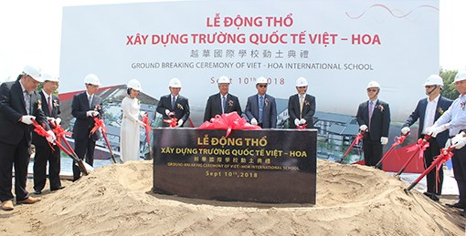 Binh Duong: Work begins on international school for foreign experts' children hinh anh 1