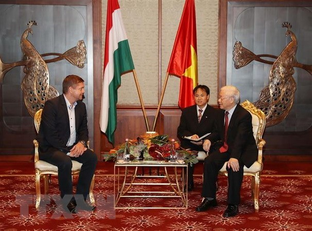 Party chief meets Hungarian Socialist Party Chairman hinh anh 1