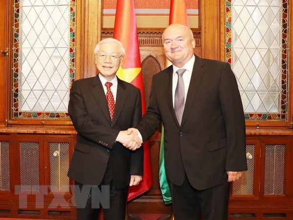 Party chief meets Deputy Speaker of Hungarian National Assembly hinh anh 1