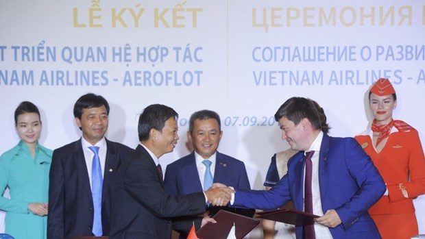 Vietnamese airlines bolster international cooperation hinh anh 1