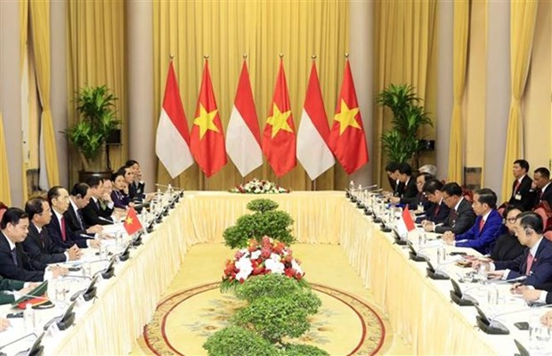 Vietnam, Indonesia Presidents look to lift two-way trade to 10 billion USD hinh anh 1