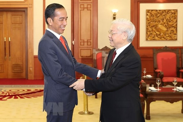 Party chief welcomes Indonesian President hinh anh 1