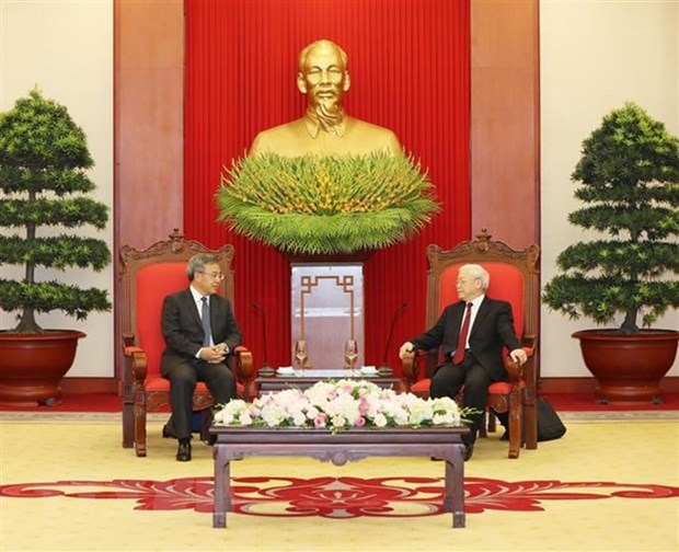 Party leader receives Chinese Vice Premier hinh anh 1