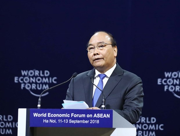 WEF ASEAN 2018 officially kicks off in Hanoi hinh anh 1
