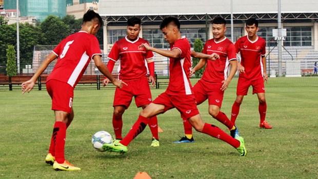 Vietnam U19s put through their paces before Qatar friendlies hinh anh 1