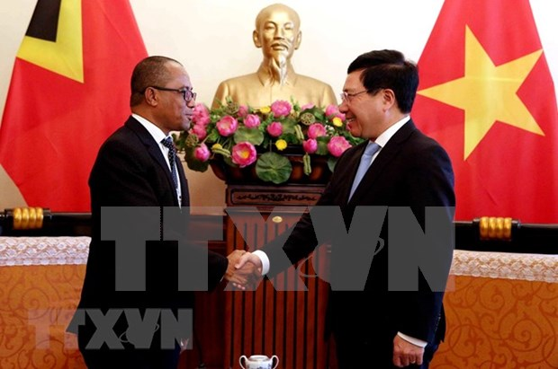 Vietnam, Timor-Leste FMs discuss measures to step up relations hinh anh 1