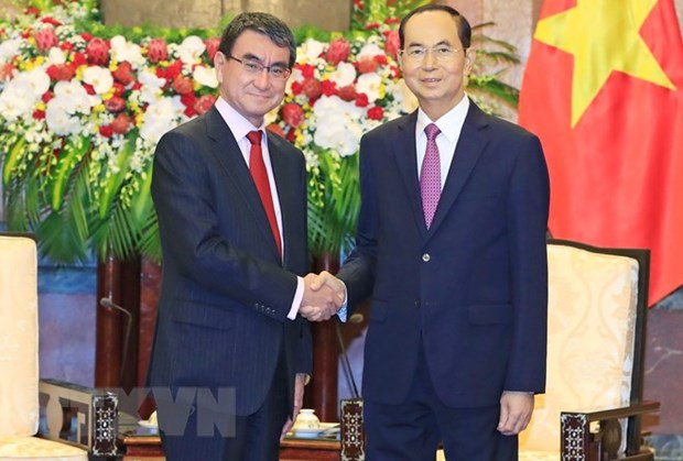 President seeks stronger multifaceted cooperation with Japan hinh anh 1