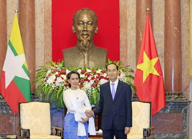 President affirms support for Myanmar's peace process hinh anh 1