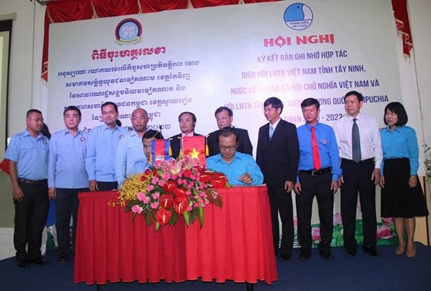 Tay Ninh, Cambodia's Svay Rieng youth federations foster cooperation hinh anh 1
