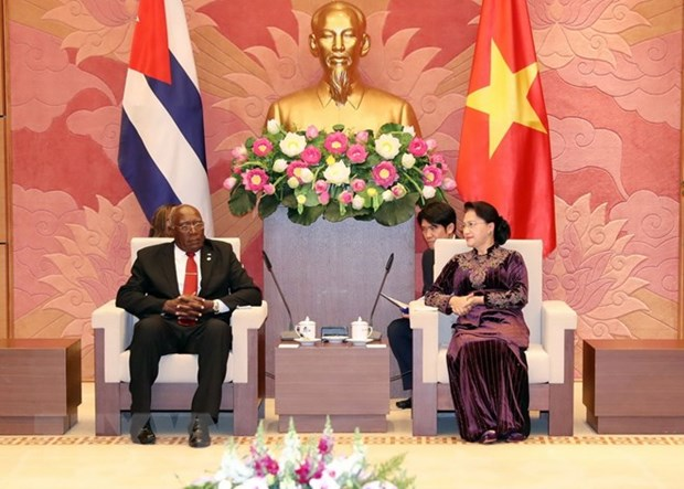 Vietnam's top legislator meets with Vice President of Cuba hinh anh 1