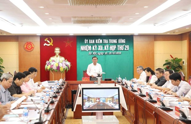 Party Central Committee's Inspection Commission holds 29th session hinh anh 1