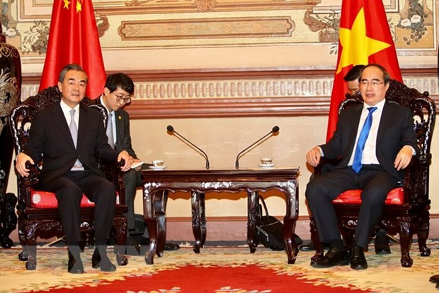HCM City leader hosts Chinese Foreign Minister hinh anh 1